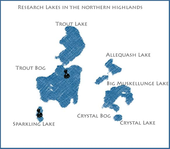 map of northern lakes