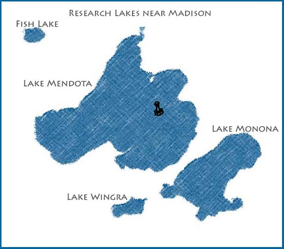 map of southern lakes